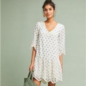 NWT Anthro/Meadow Rue Eyelet Tunic Dress - SZ XS